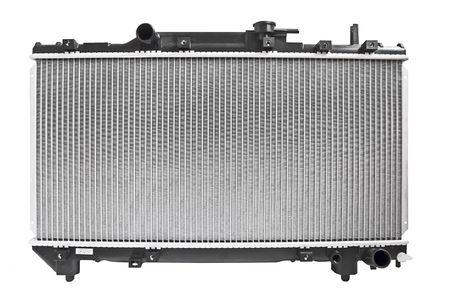 Automobile radiator, engine cooling system isolated on white background photo
