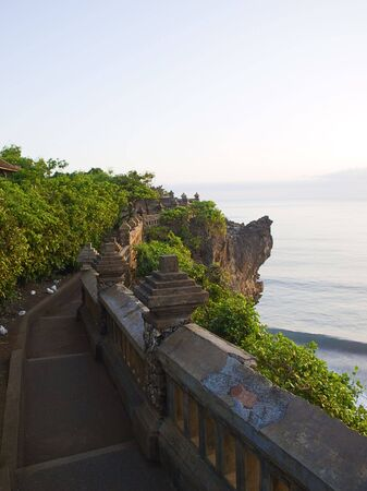View on the ocean from Pura Luhur Temple in Uluwatu at sunset, Bali photo