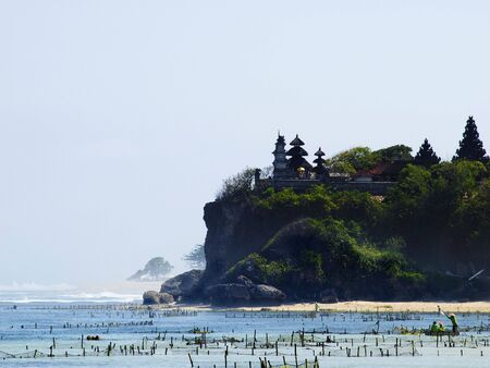 nusa: Traditional balinese temple on the rock at Nusa Dua, Bali, Indonesia