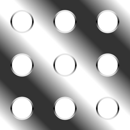 chamfer: Abstract seamless perforated metal plate vector background