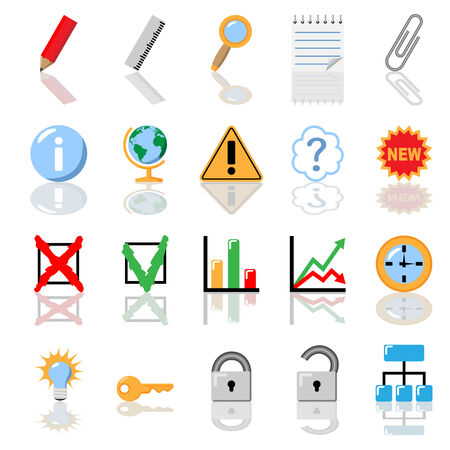 Textbook icon set. Education, economics. No gradient is used. Vector