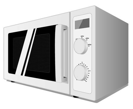 Vector illustration of microwave oven isolated on white background. Stock Vector - 5174885
