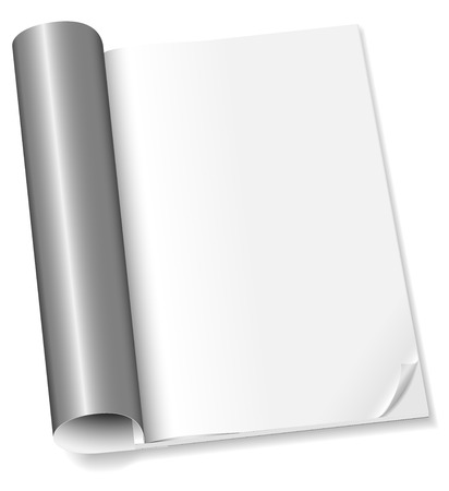 Vector illustration of blank magazine opened on first page isolated on white background Stock Vector - 5224762