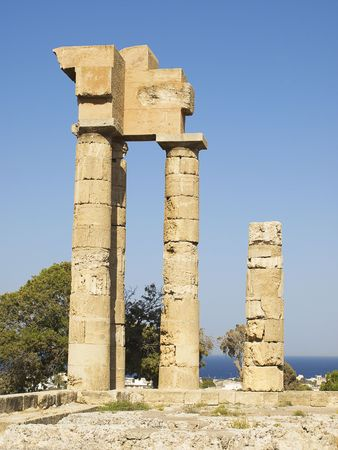 Remains of ancient temple of Apollonas at Rhodes, Greece. Stock Photo - 5355402