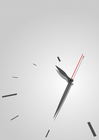 klockorna: Austere time concept vector background with copyspace for title page. Illustration