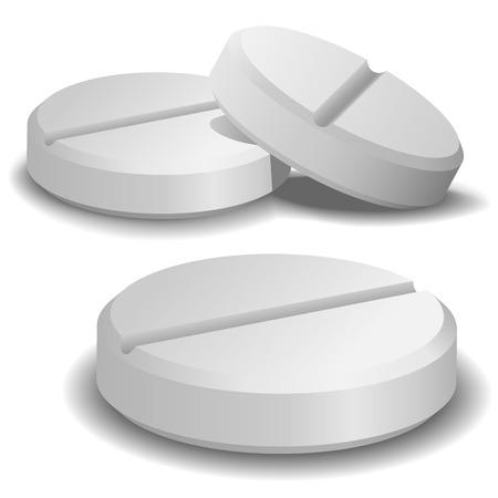 pastillas: Tres pastillas vector aisladas sobre fondo blanco. Vectores