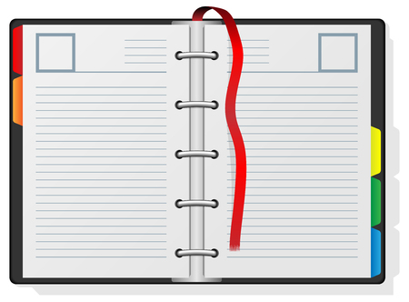 Blank engagement diary isolated on white background. Stock Vector - 5571554