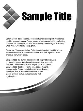 title page: Austero t�tulo vector de negocios plantilla de p�gina con copyspace.