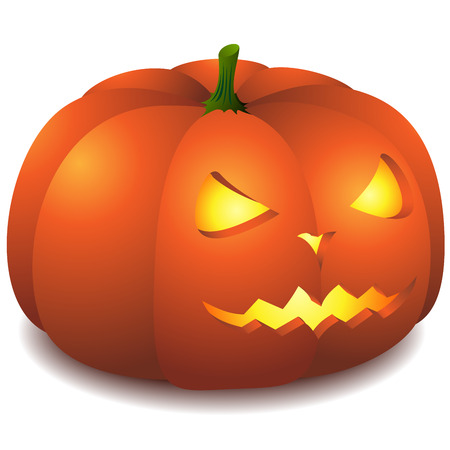 Vector illustration of Halloween pumpkin isolated on white background. Stock Vector - 5599136