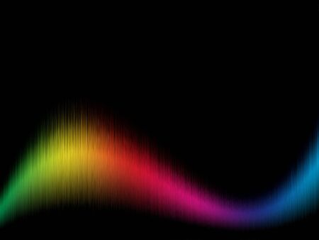 spectra: Color spectrum wavy background with black copy space.