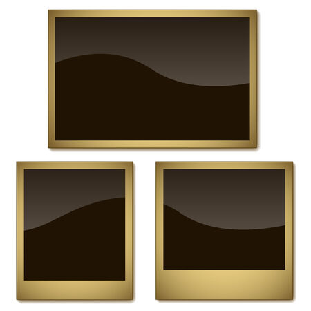 Vector set of aged photo frames isolated on white background. Stock Vector - 5677303