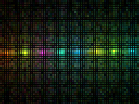 color range: Abstract multicolor lights disco tile vector background.