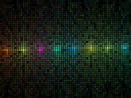 Resumen de azulejos multicolores luces de fondo discoteca vector.