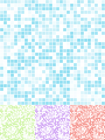 Abstract bathroom tile vector background in four color schemes. Vector