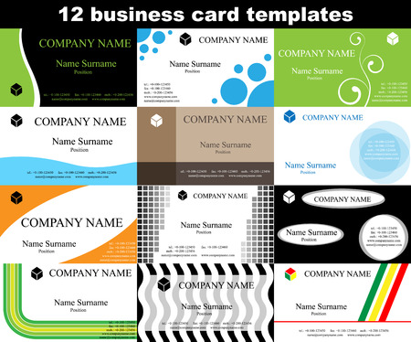 Business card vector templates. No gradients of effects. Vector