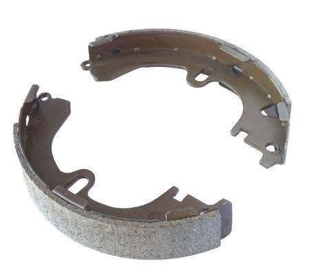 Expanding  internal brake shoes isolated on white background. photo