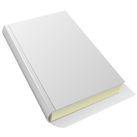 hardcover: Lying blank hardcover book isolated on white background.