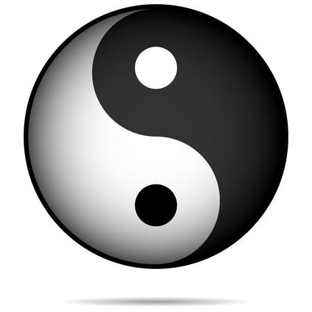 good karma: Yin-Yan symbol isolated on white background.