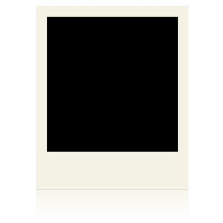 white polaroids: Blank photo frame isolated on white background Stock Photo