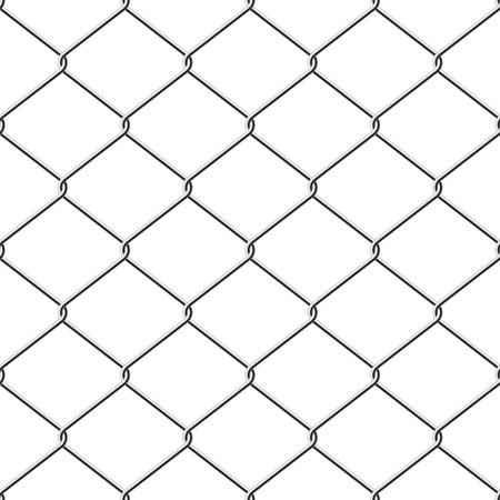 enclosures: Filo realistico comparir� recinzione senza saldatura vettoriale sfondo.  Vettoriali