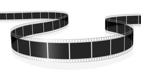 Roll film: Ilustraci�n vectorial de pel�cula est�ndar de foto o pel�cula aislado sobre fondo blanco. Vectores