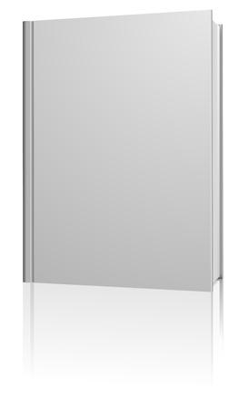 libros: Permanente en blanco libro de tapa dura aislado sobre fondo blanco.
