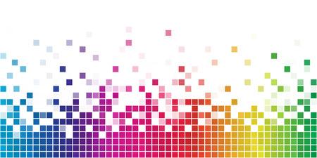 Arcobaleno variopinto mosaico quadrato con spazio bianco copia.