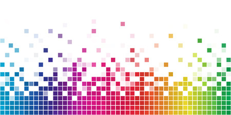 colored backgrounds: Colorful rainbow square mosaic with white copy space.