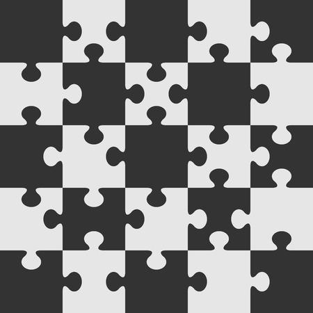 jigsaws: Modello vettoriale del puzzle. Utilizzando i pezzi del puzzle di questa figura si possono creare puzzle di qualsiasi dimensione.  Vettoriali