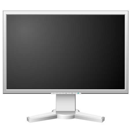 New modern white LCD monitor isolated on white background. Stock Vector - 6296277