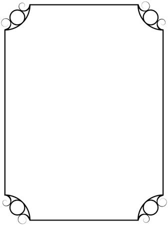 Marco de vector de cosecha simple aislado sobre fondo blanco.