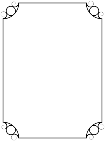 Simple vintage vector frame isolated on white background. Illustration