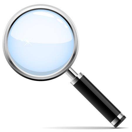 scrutiny: Ilustraci�n vectorial de lupa aislado sobre fondo blanco.