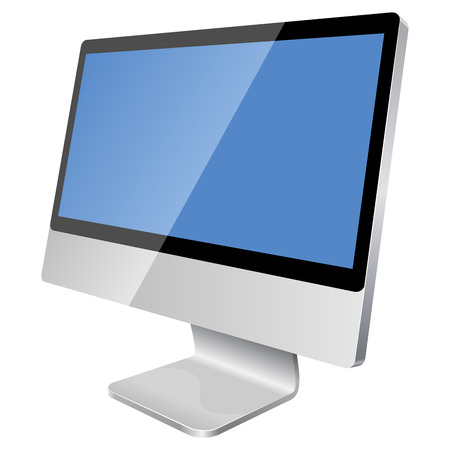 New modern blank monitor isolated on white background. Stock Vector - 6344589