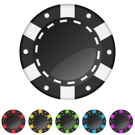 attribute: Casino speelpenningen ter geïsoleerd op een witte achtergrond.