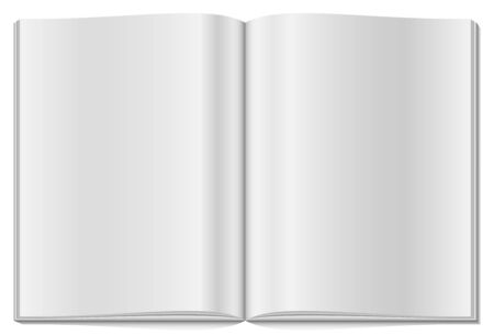 blank magazine: Blank opened magazine isolated on white background.