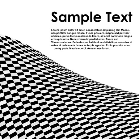 Abstract black and white checked  vector background with copy space. Vector