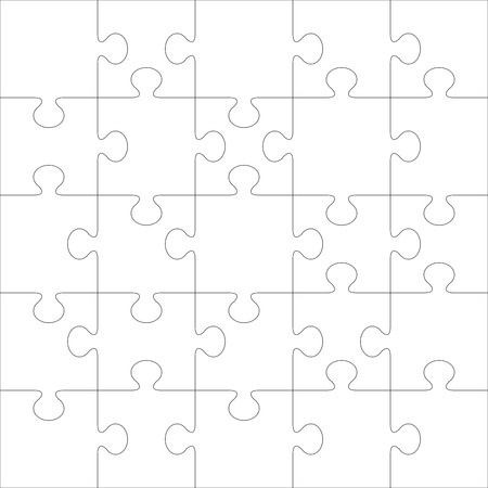 bit: Puzzle vector template. Using puzzle pieces of this illustration you can make up puzzle of any size.