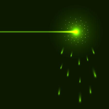funken: Gr�ne Laser Beam Hintergrund mit Kopie Raum.  Illustration