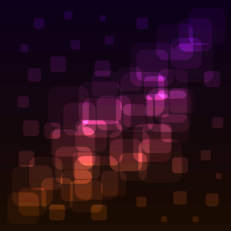 visionary: Abstract rounded squares colorful lights background. EPS10 file. Illustration