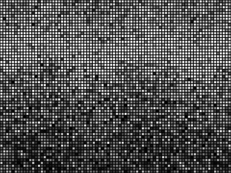 Black and white mosaic background.