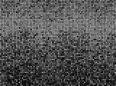 pixels: Black and white mosaic background.