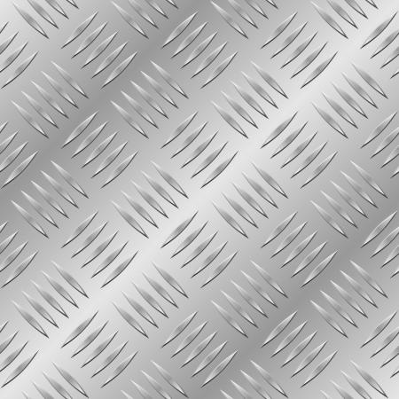 Diamond metal plate seamless pattern. Stock Vector - 6980166