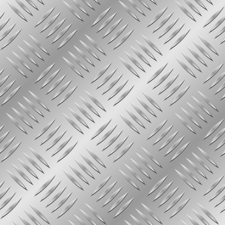 treads: Diamond metal plate seamless pattern.  Illustration
