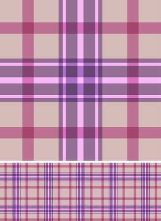 Beige and pink seamless plaid pattern. EPS10 file. Vector