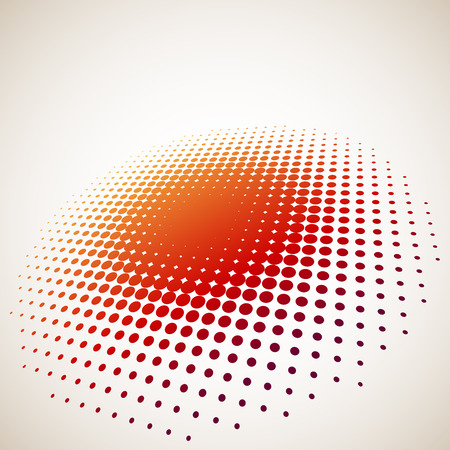 halftone: 3D halftone circle background with copy space Illustration