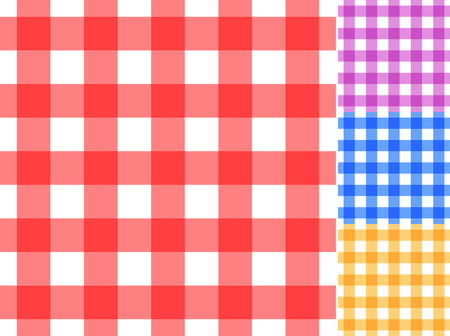 Seamless traditional tablecloth pattern in 4 colors. Easy editable EpS10 file. Vector