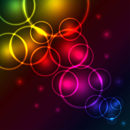 Abstract glowing spectrum bubbles background with copy space. EPS10 file. Stock Vector - 7180040