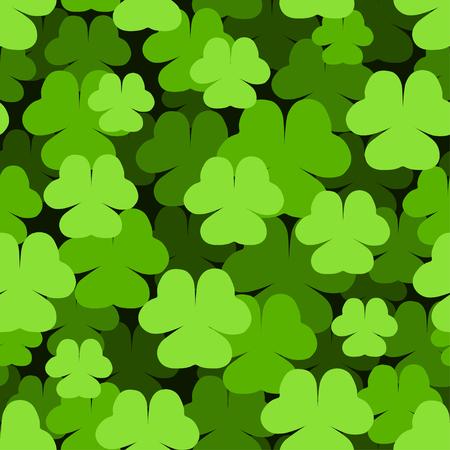 Seamless green shamrock Saint Patrick's Day pattern. Stock Vector - 7180018