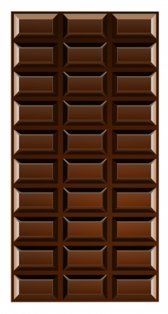 Chocolate bar illustration isolated on white background  Vector